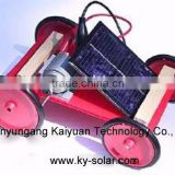 DIY Solar energy powered toys driving car model