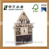 2015 china suppliers outdoor natural pine handmade wholesale FSC eco friendly wood bee hotel