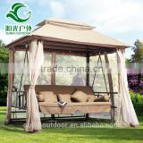 Factory Price Outdoor Gazebo Rocking Chair Swing Bed with Mosquito Netting                                                                         Quality Choice
