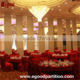 sliding door foldable stackable partition for banquet hall