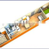 Low cost&High quality China manufacturers factory price prefab shipping container homes for sale