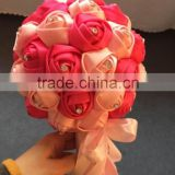 2015 LATEST ARRIVAL Artificial Flowers Fine Design bear wedding flowers bridal bouquets crystal