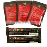 3 side sealed aluminium foil instant coffee sachet bag with SGS certificate factory price