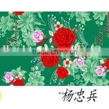 fashion designs disperse printed polyester brushed custom printed blankets bed sheet fabric