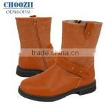 Wholesale Latest Fashion Flat Heel Girls In Leather Boots Brown Children Suede Thigh High Leather Winter Half Boots