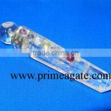Crystal Quartz Chakra Healing Stick From Prime Agate Exports | Seven Chakra Crystal Healing Stick for Metaphysical healing