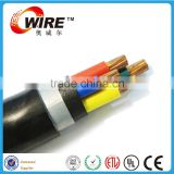 VV22/VLV22/VV 0.6/1KV 4 copper (Alluminum ) Cores PVC Insulation PVC Sheath Armoured steel strip Electrical power Cable