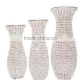 2016 new hot wholesale unique glass vases wedding centerpiece , crystal wedding centerpiece ,