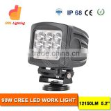 New work zone rechargeable led worklight,90w Stainless steel bracket led work light for Car