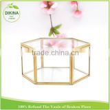 Octahedron glass terrarium wedding jewelry candy romance photo frame display case , decorative glass solder packaging box