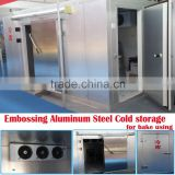 Aluminum steel cold storage apply in bakery