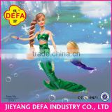 costume mermaid dolls with 3 beautiful dress
