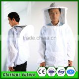 White Color Cotton Material Bee Suit Beekeeping Protective Jacket From China Manufacturer