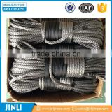 Jinli rope gray/blue/red/black Color 33000lb altec synthetic winch rope lewmar anchor winch rope