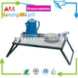 Outdoor and camping or campfire Cooking table grill