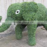 Factory handmade fake animal shape grass plant elephant green plant for garden ornaments
