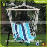 Outdoor furniture Patio rattan double seat hanging egg swing chair with metal stand