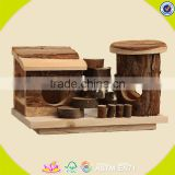 2017 New design wooden mini animal house lovely wooden mini animal house small wooden mini animal house W06F021