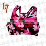 2014 new fashion sublimated sexy women's running sports bra