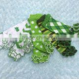 shamrock st.patrick Day baby chevron polka dot leg warmer set