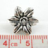 40Pcs Antique Silver 2Holes Easter Lily Flower Spacer Beads 14mm,Jewelry