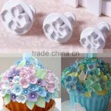2017 Hot Search 3 Pcs/Set Hydrangea Fondant Cake Decoration Sugar Flower Craft Plunger Cutter Flower Mold for Baking Cakes