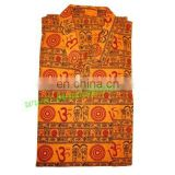 full sleeve short yoga kurta in cotton, size : chest 110 x height 69 x sleeve 57 centimeters.