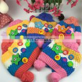 wholesale fashion Cheap Children kids Baby Knitted Hats Winter crochet Hat with villi inner Kids Earflap Cap