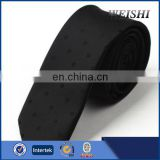 100% Polyester Microfiber Fashion Cool Black Skinny Tie