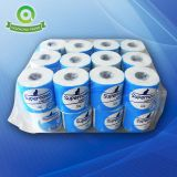 Roll tissue paper and toilet roll tissue and sanitary toilet paper with single pack