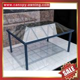 tempered glass aluminum aluminium metal outdoor gazebo patio pavilion canopy canopies cover awning shelter manufacturers