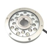 316L Stainless Steel 18W/54W Single Color/ RGBV+ IP68 Waterproof LED Underwater Fountain Light