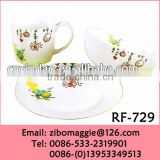 Professional Zibo Manufacture Cartoon Designed Ceramic Cheap Deer Dinnerware Set