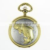 alloy case quartz bronze pocket watches