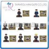 Mini Qute Senye 8pcs/set CS SWAT Police station plastic boys kids models building blocks action figure educational toy NO.SY 260
