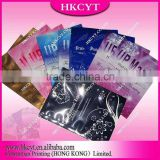 Customized design logo Facial mask bag/New design cosmetic tool packaging pouch for heat sealed