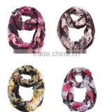 Top-selling Foreign Trade Attractive Splash-ink Printing Fashion Infinity Shawl Round Neck Scarf