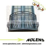 whoelsale simple wrought iron window grill low price with flower/modern decorative wrought iron fence