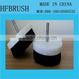Black nylon PP Base drill polishing brush