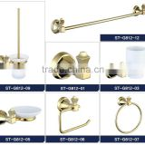 Fresh design Ceramic wall mounted bathroom accessories in gold set                                                                                                         Supplier's Choice