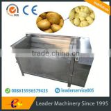 Leader new design potato radish washing and peeling machine Skype:leaderservice005