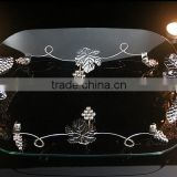 AN375 ANPHY Hotel Household Table KTV Decoration Three Kinds Toughened Glass Plate Tray Holder Display Stock