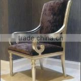Foshan European design full leather fabric banquet chair for luxury living room furniture