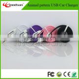 various color noodle pattern audio adapter cable