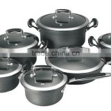 SA-12072 Hard Anodized Aluminum cookware Set / Casting hanlde Kitchenware Wholesale cookware