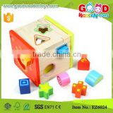 Wisdom Wooden Shape Sorting Box N Shape Sorter Cube Kids Fun Wooden Toys                                                                         Quality Choice