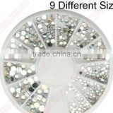 1.5mm/2mm/3mm/4mm/5mm Glitter Clear Hot Fix Nail Art Rhinestone For Nail Decoration Wholesale 5915