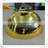 Decoration vacuum formed ABS gold christmas bowls