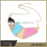 Alloy Oil Fashion Necklace Colorful Oil Bib Necklace Latest Statement Alloy Necklace