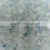 Clear pet bottle flakes AA grade 25-30 % light blue